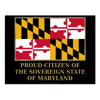 Proud Citizen of Maryland Postcard