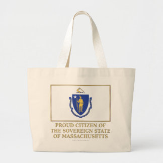 Proud Citizen of Massachusetts Canvas Bags