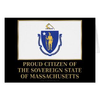 Proud Citizen of Massachusetts Card