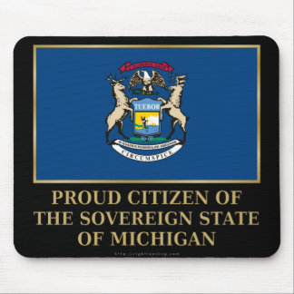 Proud Citizen of  Michigan Mouse Pad