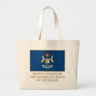 Proud Citizen of  Michigan Tote Bags