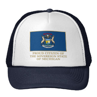 Proud Citizen of  Michigan Trucker Hat