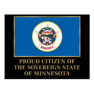 Proud Citizen of  Minnesota Postcard