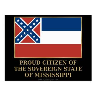 Proud Citizen of  Mississippi Postcard