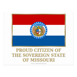 Proud Citizen of  Missouri Postcard