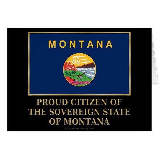 Proud Citizen of  Montana Card