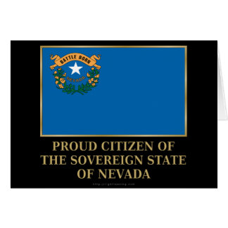 Proud Citizen of  Nevada Card