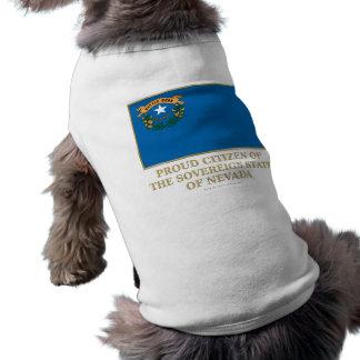 Proud Citizen of  Nevada Doggie Tee Shirt