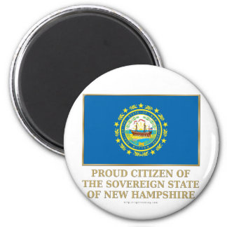 Proud Citizen of New Hampshire 2 Inch Round Magnet