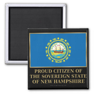 Proud Citizen of New Hampshire 2 Inch Square Magnet