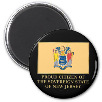 Proud Citizen of New Jersey 2 Inch Round Magnet