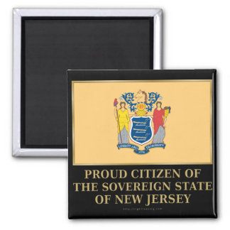 Proud Citizen of New Jersey 2 Inch Square Magnet