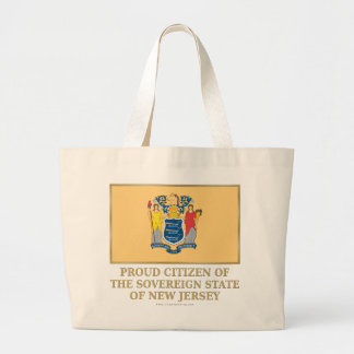 Proud Citizen of New Jersey Canvas Bags