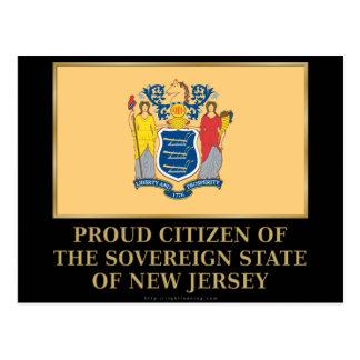 Proud Citizen of New Jersey Postcard