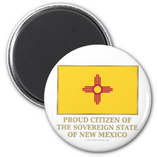 Proud Citizen of New Mexico 2 Inch Round Magnet