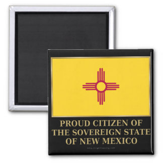 Proud Citizen of New Mexico 2 Inch Square Magnet