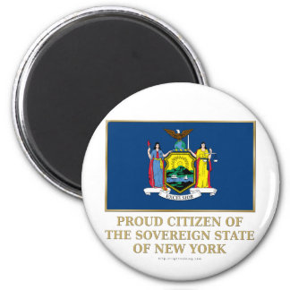 Proud Citizen of New York 2 Inch Round Magnet