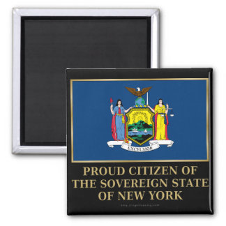 Proud Citizen of New York 2 Inch Square Magnet