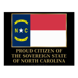Proud Citizen of North Carolina Post Cards