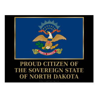 Proud Citizen of North Dakota Postcard