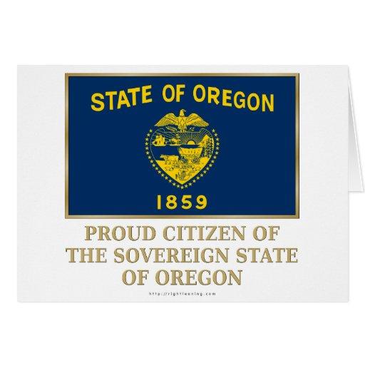 Proud Citizen of  Oregon Card