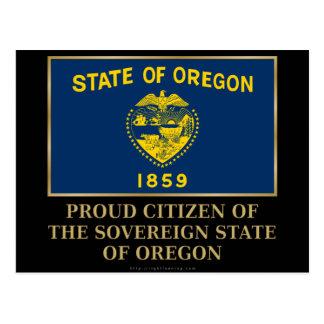 Proud Citizen of  Oregon Postcard