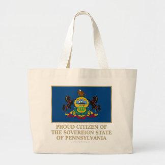 Proud Citizen of Pennsylvania Tote Bags