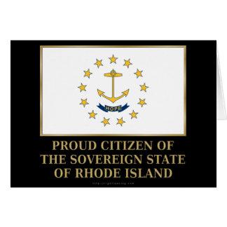 Proud Citizen of Rhode Island Card