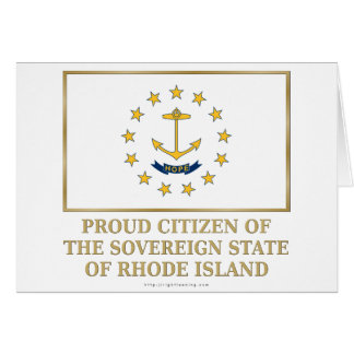 Proud Citizen of Rhode Island Greeting Cards