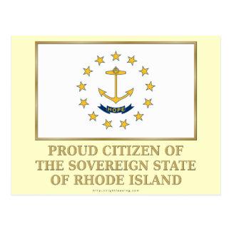 Proud Citizen of Rhode Island Postcard