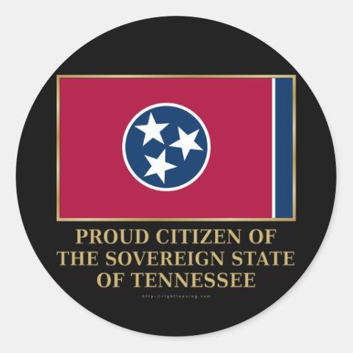 Proud Citizen of Tennessee Round Sticker