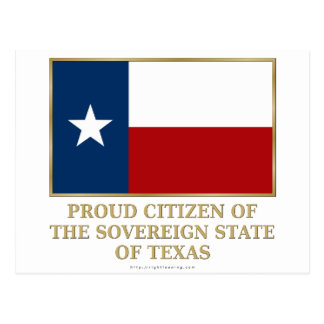 Proud Citizen of Texas Post Cards