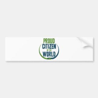 Proud Citizen of the World Bumper Sticker
