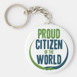 Proud Citizen of the World Keychain