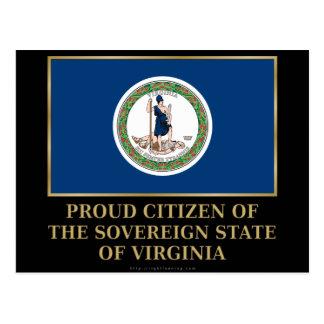Proud Citizen of Virginia Postcard
