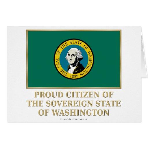 Proud Citizen of Washington Greeting Cards