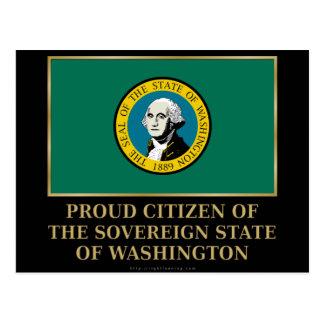Proud Citizen of Washington Postcard