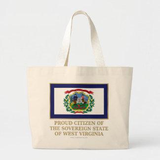 Proud Citizen of West Virginia Tote Bags