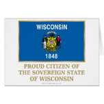 Proud Citizen of Wisconsin Greeting Cards