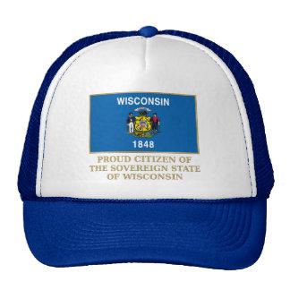 Proud Citizen of Wisconsin Trucker Hats