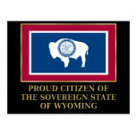 Proud Citizen of Wyoming Postcard
