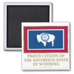 Proud Citizen of Wyoming Refrigerator Magnet