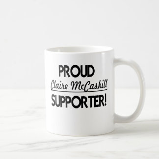 Proud Claire McCaskill Supporter! Classic White Coffee Mug