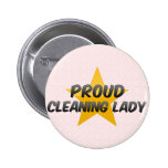 Proud Cleaning Lady Buttons