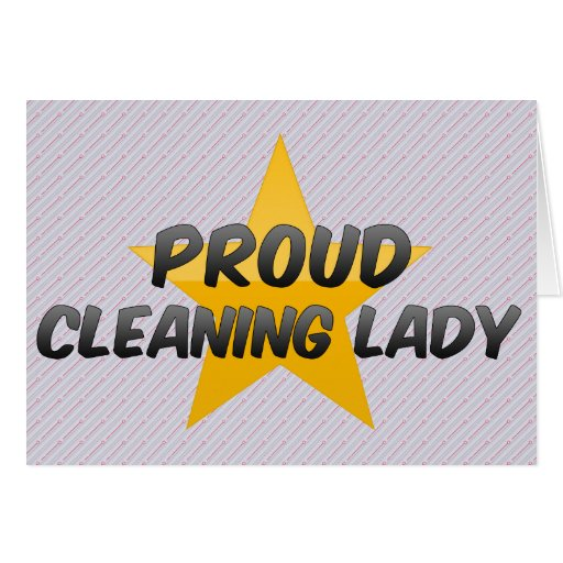 Proud Cleaning Lady Cards