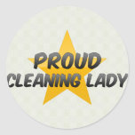 Proud Cleaning Lady Stickers