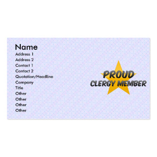 Proud Clergy Member Double-Sided Standard Business Cards (Pack Of 100)