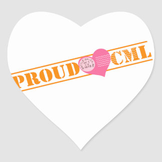 Proud CML Heart Stickers