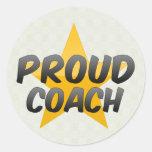 Proud Coach Round Sticker