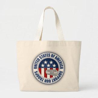 Proud Coast Guard Baby Canvas Bag